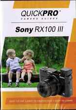 QUICKPro Training DVD Sony RX100 III >NEW< Free US Shipping