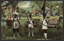 "South Africa. Durban ""Rickshah Boys"" Wearing Horned Headdresses. Unused Postcard"