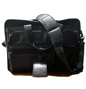 TUMI 15 Inch expandable leather briefcase 96141D4