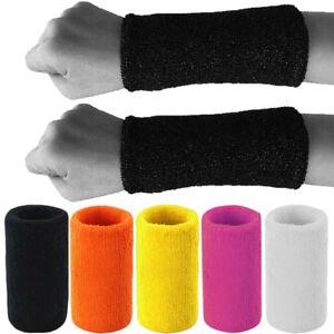 "Sweat Wristband 5"" Inch Long Squash , Badminton Cricket Sport Aerobics"
