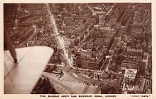 LONDON,  Marble Arch & Edgware Road from the Air  -  Real Photo, by Airco.