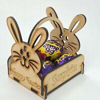 Personalised Easter Egg Creme Holder Bunny Treat Basket Gifts Kid Boy Girl + Egg