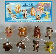 KINDER SURPRISE FERRERO SET ICE AGE COLLISION COURSE DISNEY CAKE TOPPER + PAPERS