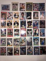 HALL OF FAME Stars Rookie Baseball Card Lot 1980's RAMIREZ JUSTICeMUSSINA ALOMAR