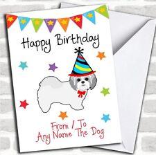 To From Pet Dog Shih Tzu Customised Birthday Card