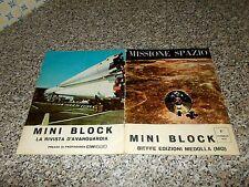 ALBUM MISSIONE SPAZIO MINI BLOCK BIEFFE 1970 COMPLETO FIGURINE (NO ADESIVI)MB/OT