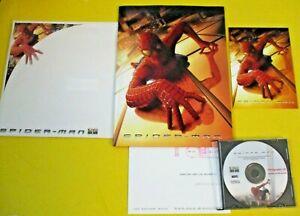 SPIDER-MAN 2002 MOVIE PRESS KIT PHOTO CD + FOLDER + SCREENING INVITE + NOTES