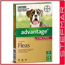 Advantage for Dogs 10-25Kg Large Red 6Pack