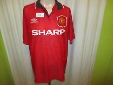 "Manchester United Original umbro Meister Trikot 1994-1996 ""SHARP"" Gr.L"
