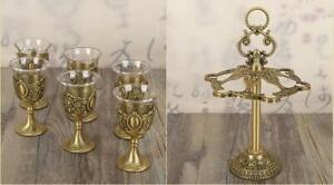 homebrew Chinese wine cup set 6 pcs goblets rack liqueur Shot glass Classical