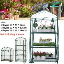 Mini Greenhouse Outdoor Portable Green House Gardening w/ 2/3/4 Tier PE