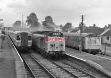 PHOTO  BUSY TIME  BEDWYN RAIWLAY STATION   FROM SIGNAL BOX