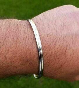 Sikh Kara Bangle Silver Tone lines bracelet Singh Kaur Khalsa Kakaar Kada 5Ks R7