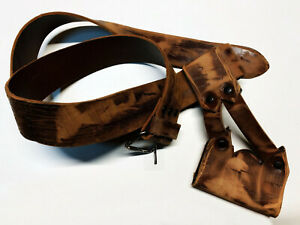 Cintura in cuoio per rievocazioni medievali realizzata a mano