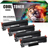 4 Pack Compatible for HP CE285A 85A Toner Laserjet P1102 P1102W M1132 M1212nf