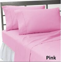 Select Bedding Item-Donna/Fitted/Flat Egyptian Cotton AU Sizes Pink Solid
