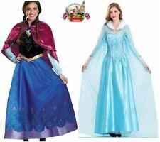 Christmas Ladies Adults Idea Frozen Anna Princes Elsa Queen Fancy Dress Costume^