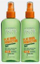 (2) Garnier Fructis Flat Iron Perfector Straightening Mist Heat Spray 6oz Each