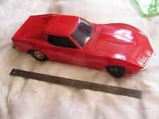 Vintage 1968 Eldon Red Corvette Stingray Battery Operated Toy Car