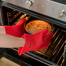 Magikuchen Multipurpose Premium Heat Resistant Silicone BBQ Gloves used for Cook