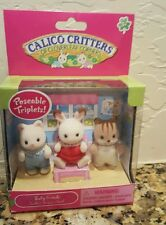 New Calico Critters 3 Baby Friends (Chipmunk Rabbit & Cat)