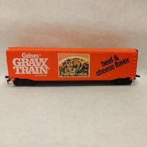 Bachmann 50' Boxcar ~ GAINES GRAVY TRAIN ~ Billboard Beef Flavor - BOX - HO
