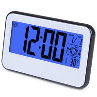 Led Digital Wecker Datum Woche Temperatur Elektronische Tisch Uhr Sprach St T1O1