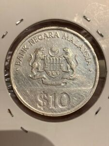 Malaysia 30th Merdeka Proof coin 1987 Silver RM10