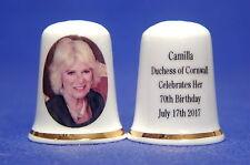 Special Offer Camilla Duchess of Cornwall Celebrates 70th BirthdayThimble B/73