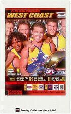 2004 AFL Teamcoach Trading Card Red Captain C15 Ben Cousins ( West Coast)