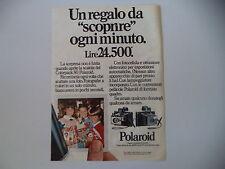 advertising Pubblicità 1973 POLAROID