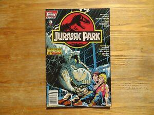 1993 TOPPS JURASSIC PARK # 3 MOVIE COMIC NEWSTAND SIGNED WALT SIMONSON, WITH POA