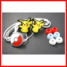 Pokemon Pikachu & Pokeball Headphone Headset Earphone Earbud For iPhone MP3 /4