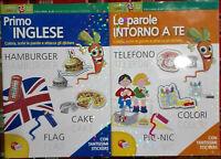 2 Libri Primo Inglese + Le parole intorno a te Libro Nuovo Lisciani N