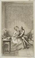 CHODOWIECKI (1726-1801). Ferdiner und Julie auf einem Sofa, Probedruck