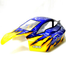 81364 Off Road Nitro RC 1/8 Scale Buggy Body Shell Yellow Blue HSP Cut Shell V2