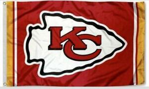 Chiefs FLAG 3X5 Kansas City Banner American Football New Fast USA Shipping KC.