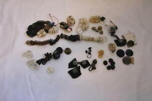 Large Lot of Mixed Fabulous 30s & 40'S Celluloid, Clay, Glass & Plastic Buttons