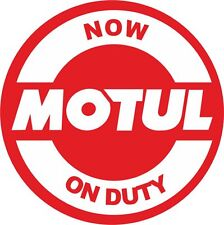 MOTUL now on duty   Vinyl JDM RACING DRIFT car sticker -  #J-44