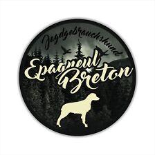 A _ JGh voiture autocollant EPAGNEUL BRETON Dumpling chiens autocollants CHIENS siviwonder