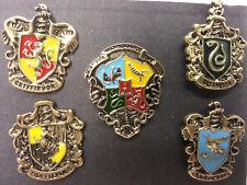 "Harry Potter House Crest 1"" Cloisionne Pin Set of 5 w Display Box (Hppi-Set5)"