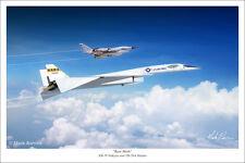 "XB-70 Valkyrie & B-58 Hustler Aviation Art Print 16"" x 24"""