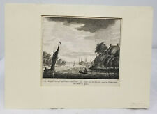 Antique Old Master Dutch Copper Engraving Peter Schenk the Elder Amsterdam Print