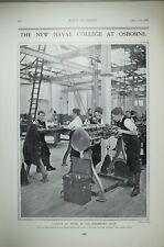 1903 Imprimé Neuf Naval College At Osborne Cadets Ingénieurs Boutique