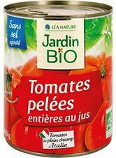 Jardin Bio - Tomates Entiéres Pelées Au Jus Bio Boïte Métal 400G - Lot De 4