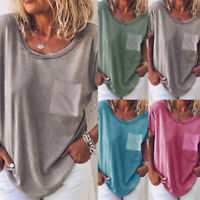 Fashion Women's Summer Tunic Short Sleeve Casual Tops T Shirts Blouse Loose ###