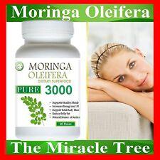 1X BOTTLE OF NATURAL ORGANIC SUPERFOOD Moringa Oleifera Vegetarian 60 Doses