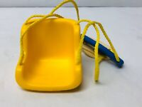 Vintage Little Tikes Dollhouse Swing 1990s Toys Yellow Swing for Baby