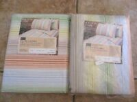 Vintage Sears BON BON STRIPE Full Flat and Fitted Sheet New in package