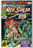 MARVEL FEATURE #6, VF, Red Sonja She-Devil, Sword, 1975, more in store